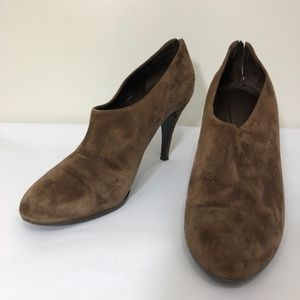 J. Crew Brown Suede Ankle Boots 10